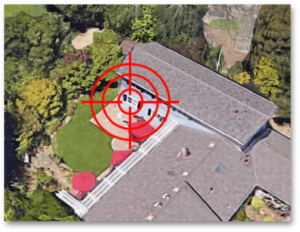 Burglary Target on home