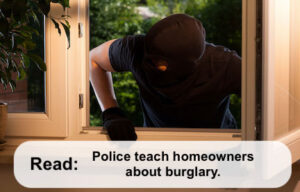 Burglar coming in window